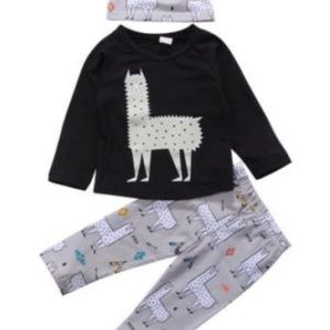 Other - HP Black llama outfit baby boy, girl 12, 18, 3T